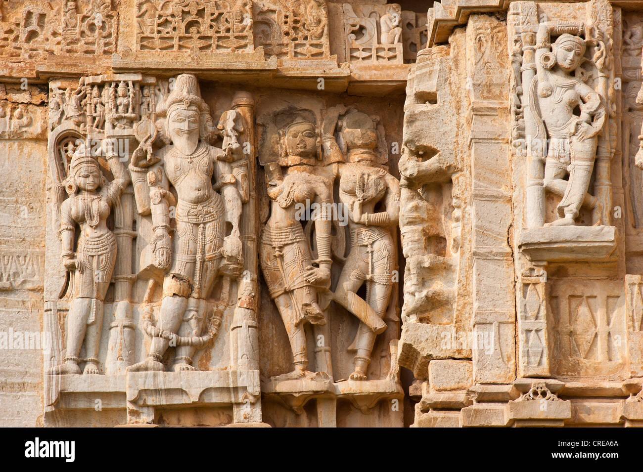 Hindu sculptures stock photos