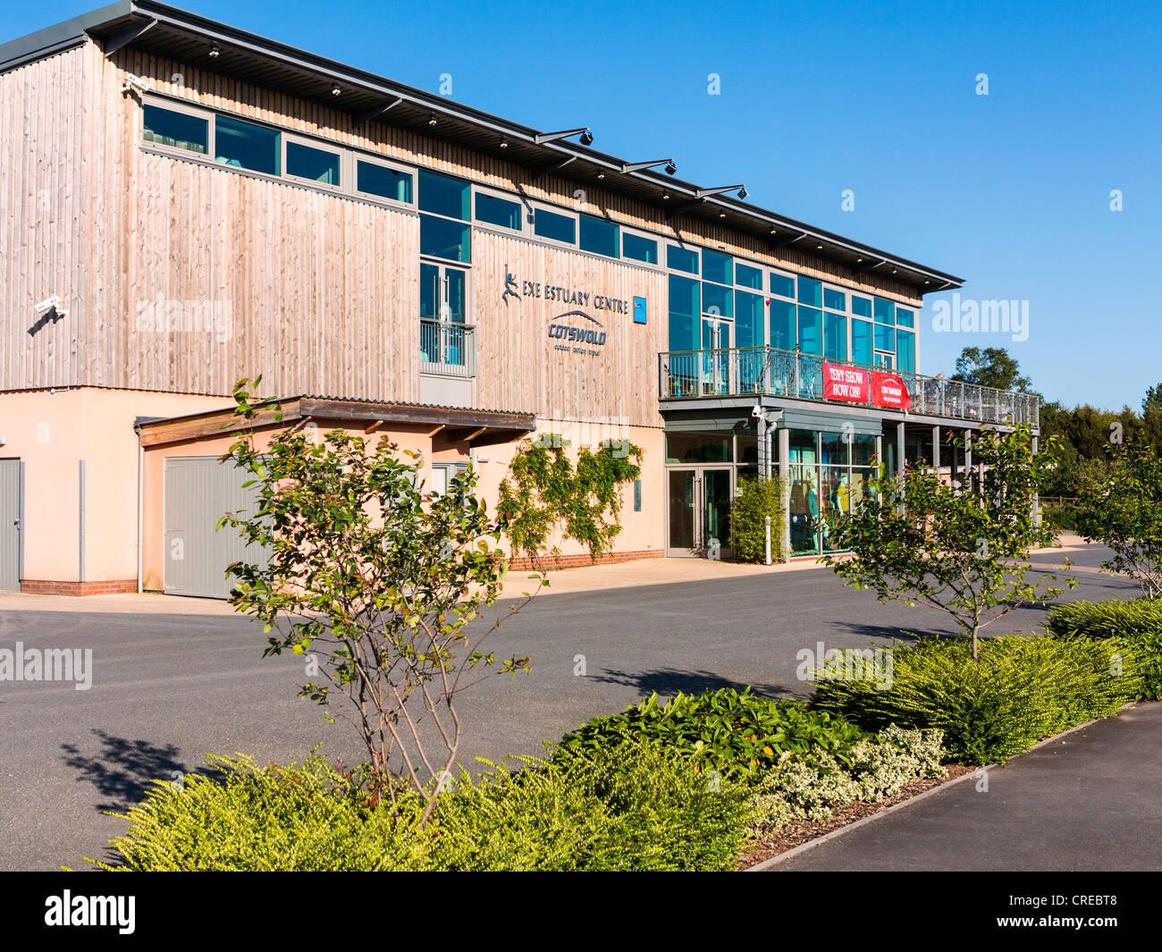 Darts Farm shopping Centre and the Exe Estuary Centre near Topsham, Exeter, Devon, England. Stock Photo