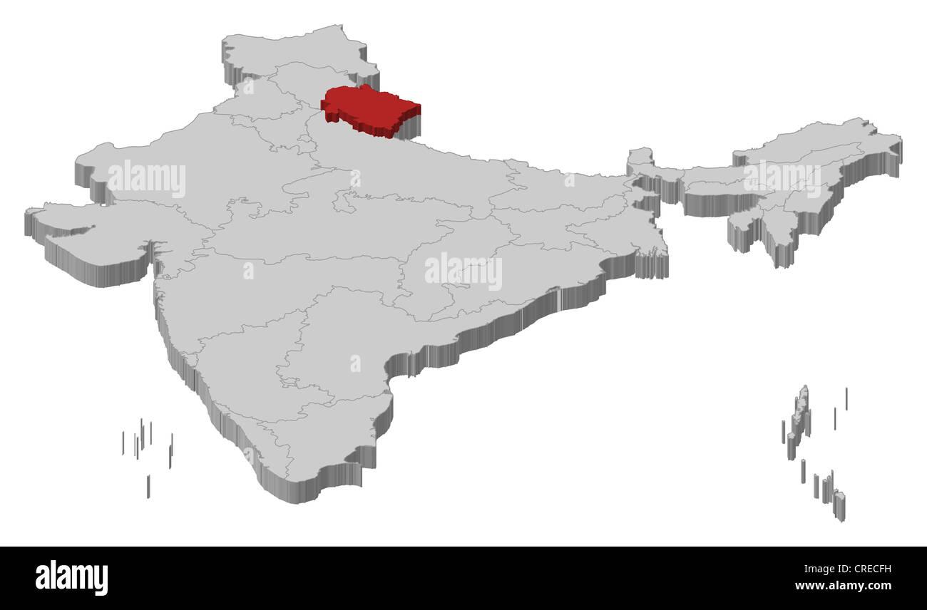 Uttarakhand Map Vector Stock Photos & Uttarakhand Map Vector Stock ...
