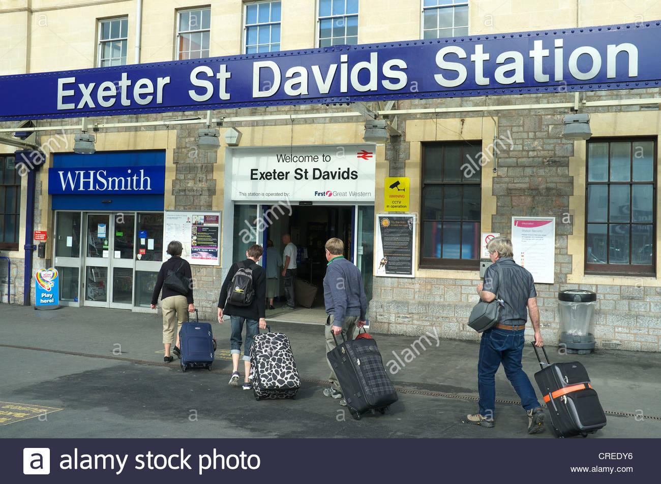 Exeter St.Davids railway station entrance, Devon, UK.Stock Photo