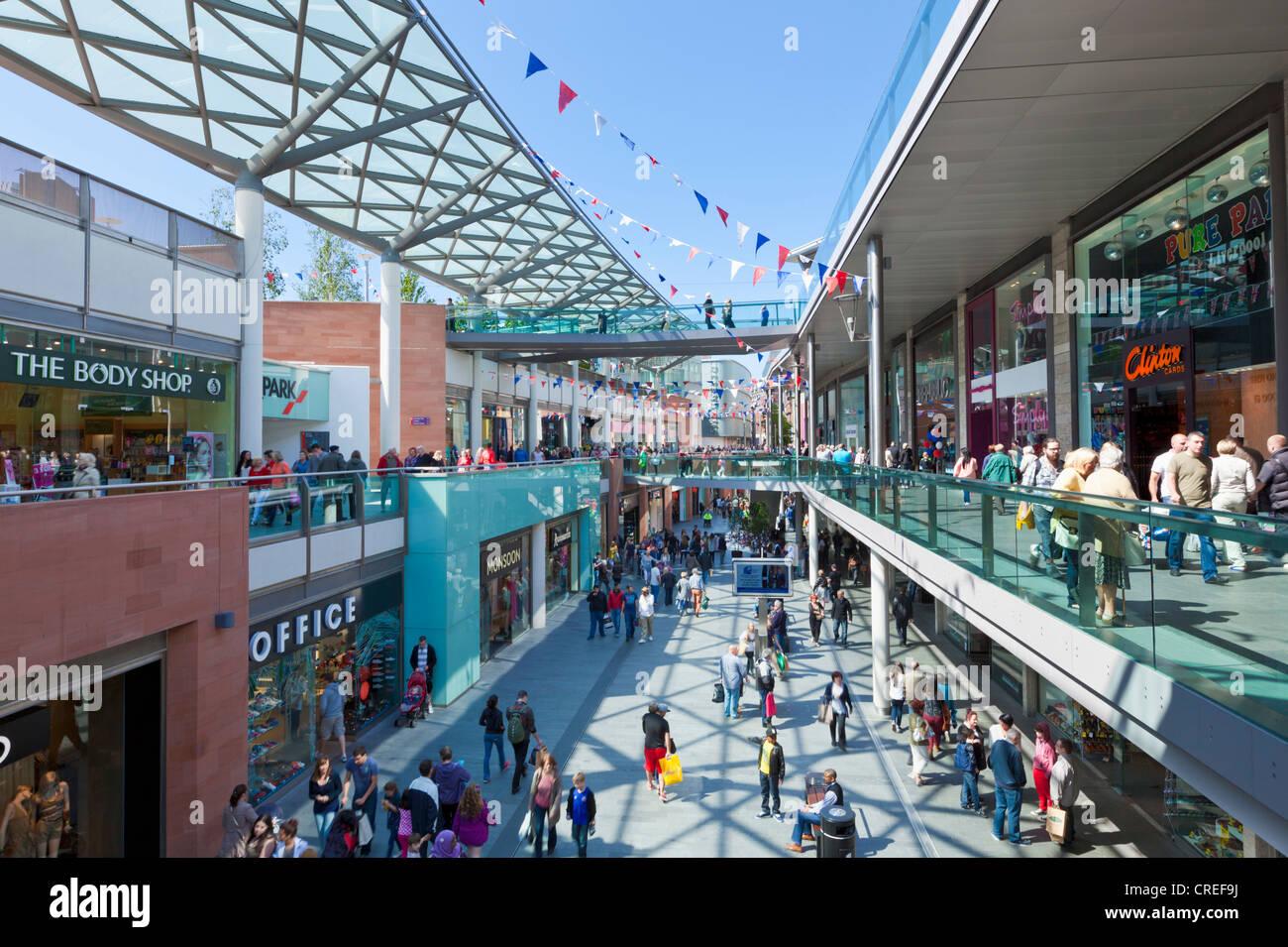Liverpool One shopping centre mall city centre Liverpool Merseyside England UK GB EU Europe - Stock Image