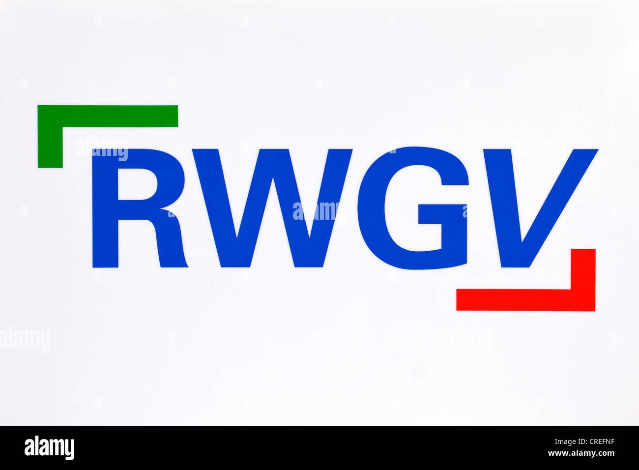 RWGV Logo, Rheinisch-Westfaelischer Genossenschaftsverband, Federal Association of German Volksbanken und Raiffeisenbanken - Stock Image