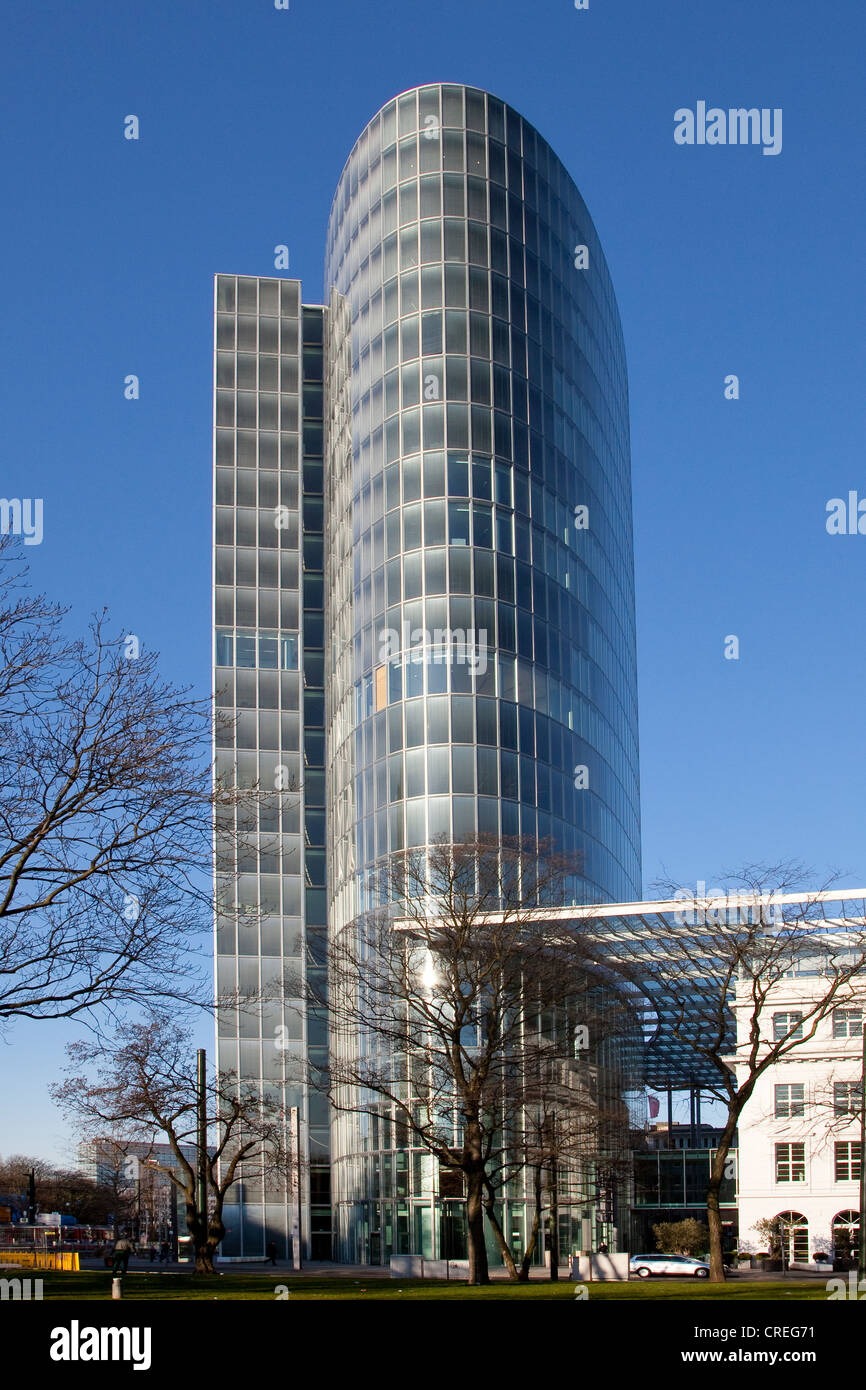 GAP 15 office building with a glass facade, Graf-Adolf-Platz square, Duesseldorf, North Rhine-Westphalia, Germany, - Stock Image