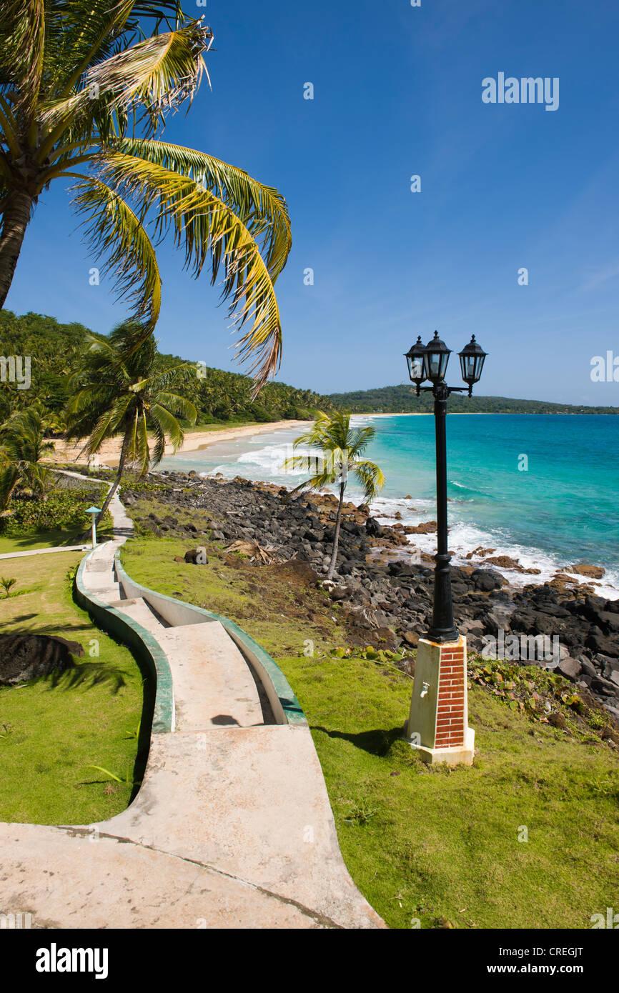 Park, Big Corn Island, Caribbean Sea, Nicaragua, Central America Stock Photo