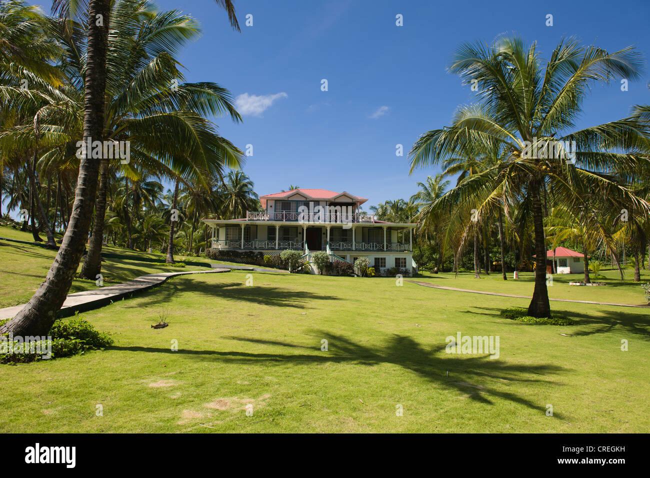 Weekend home of President Daniel Ortega, Big Corn Island, Caribbean Sea, Nicaragua, Central America Stock Photo