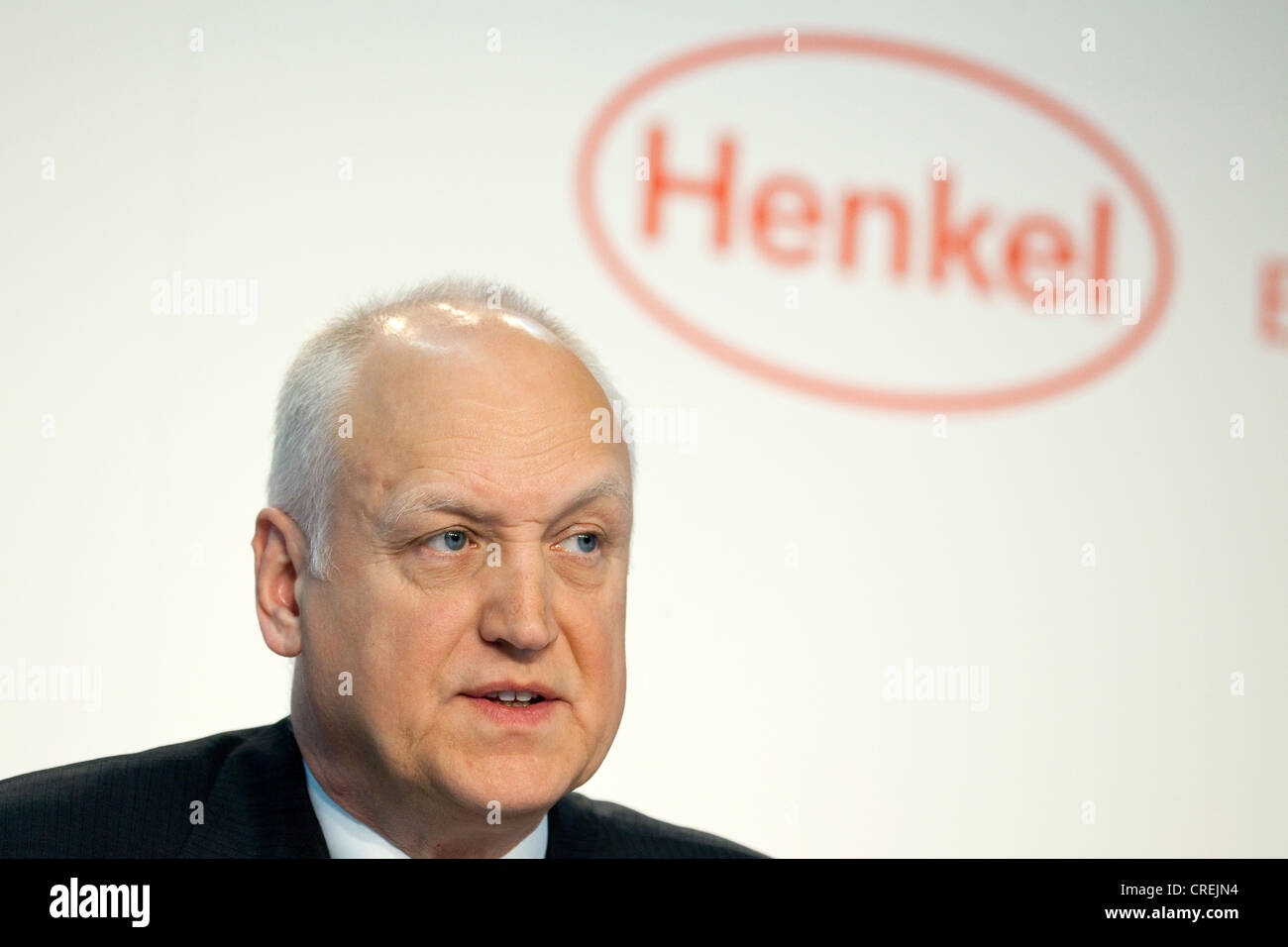 Lothar Steinebach, Chief Financial Officer, CFO, of Henkel AG & Co.KG during the financial statement press conference on Stock Photo