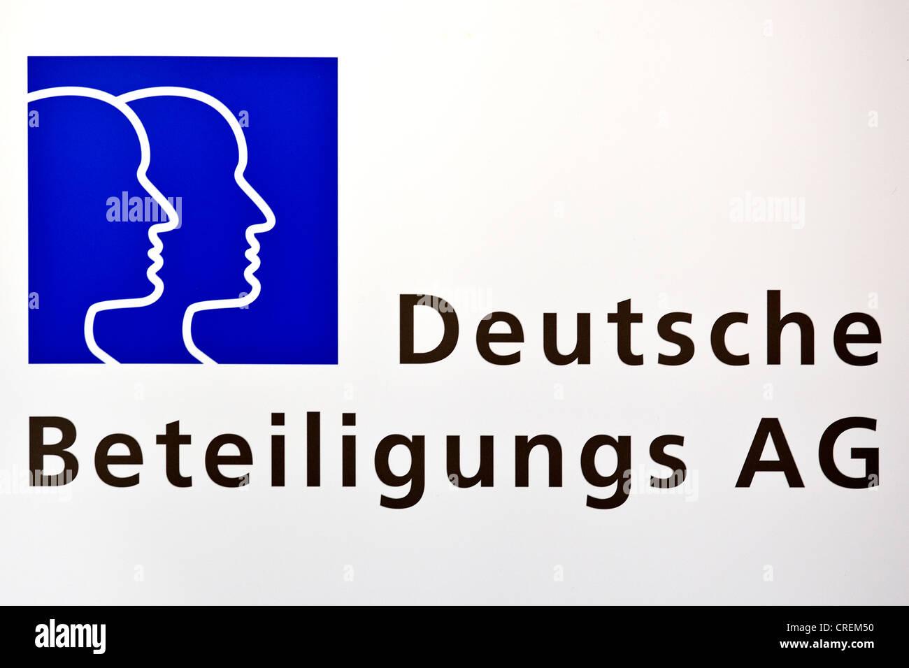 Logo, Deutsche Beteiligungs AG corporation in Frankfurt am Main, Hesse, Germany, Europe - Stock Image