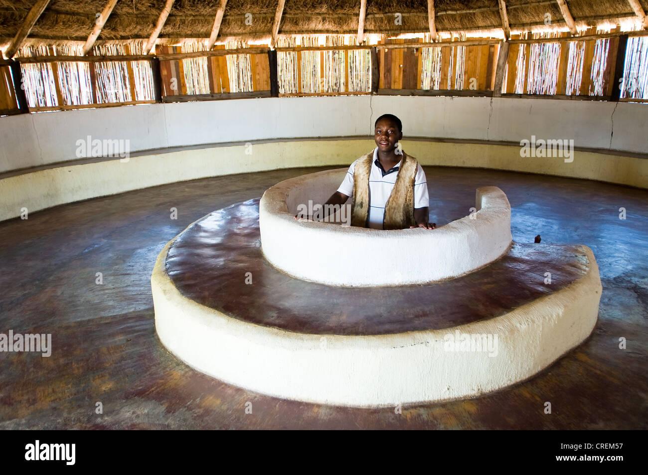 shangaan tribal culture Mafuyane Cultural Village Hoedspruit south africa - Stock Image