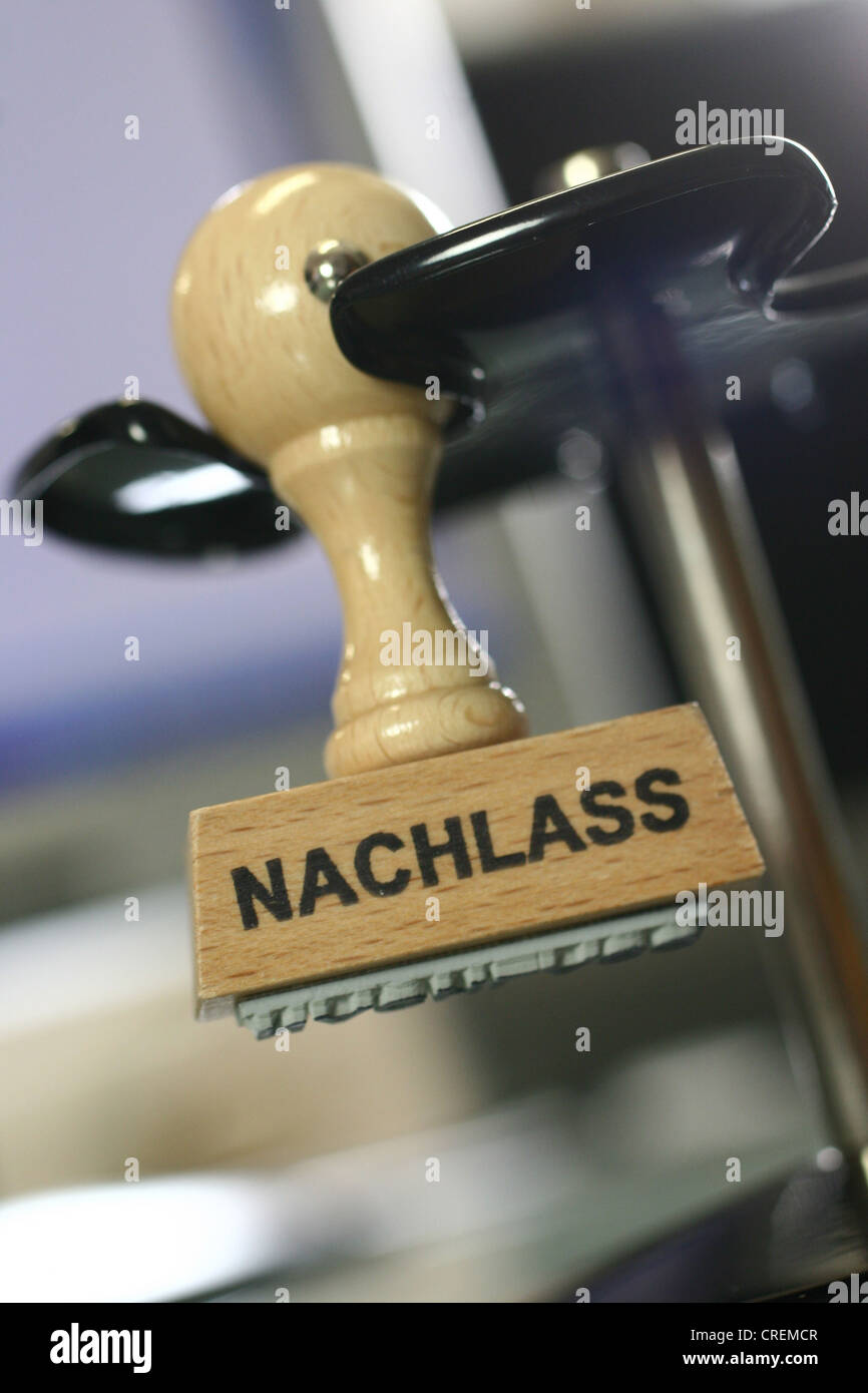stamp Nachlass, deduction Stock Photo