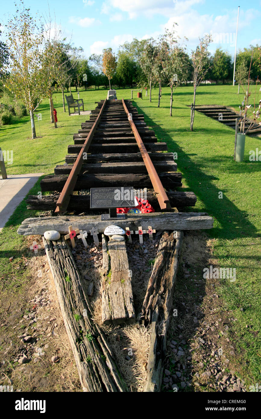 Burma Railway Memorial National Memorial Arboretum Alrewas Staffordshire Englalnd UK - Stock Image