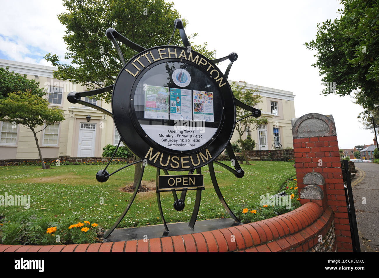 Littlehampton Museum and town council offices West Sussex UK - Stock Image