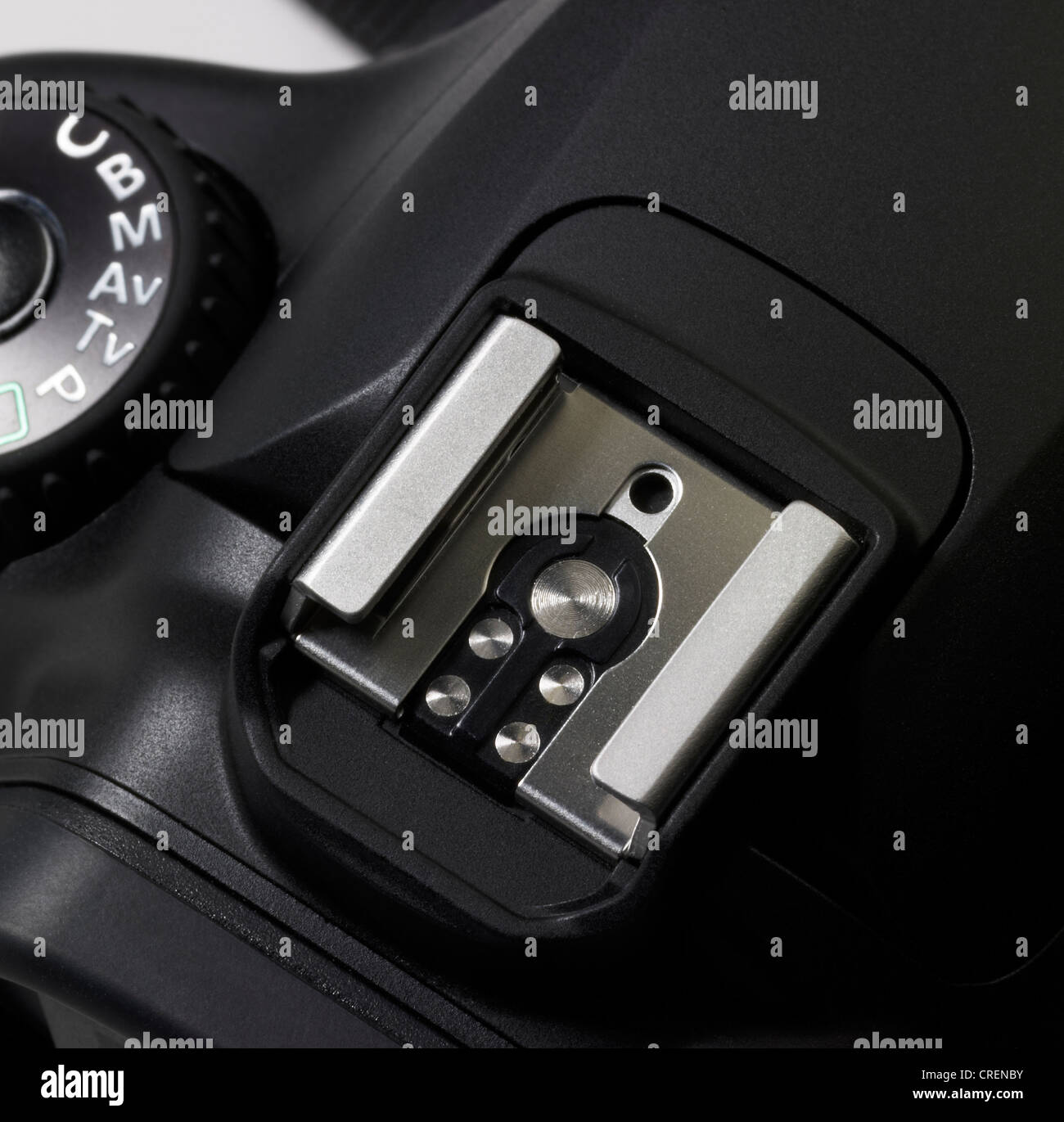 detail of a black digital camera - Stock Image