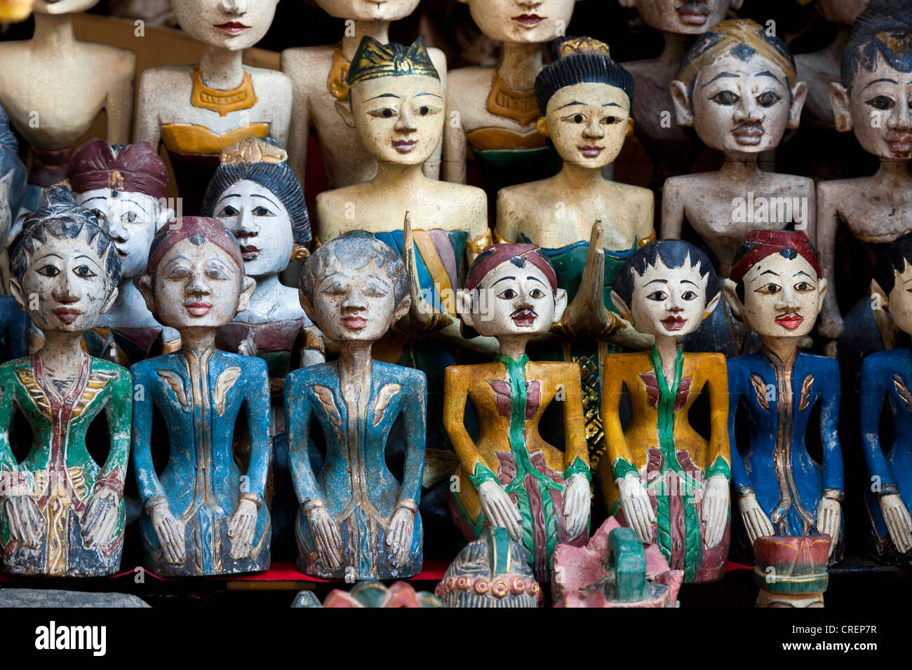 Traditional dolls as souvenirs, Ubud, central Bali, Bali, Indonesia, Southeast Asia, Asia - Stock Image