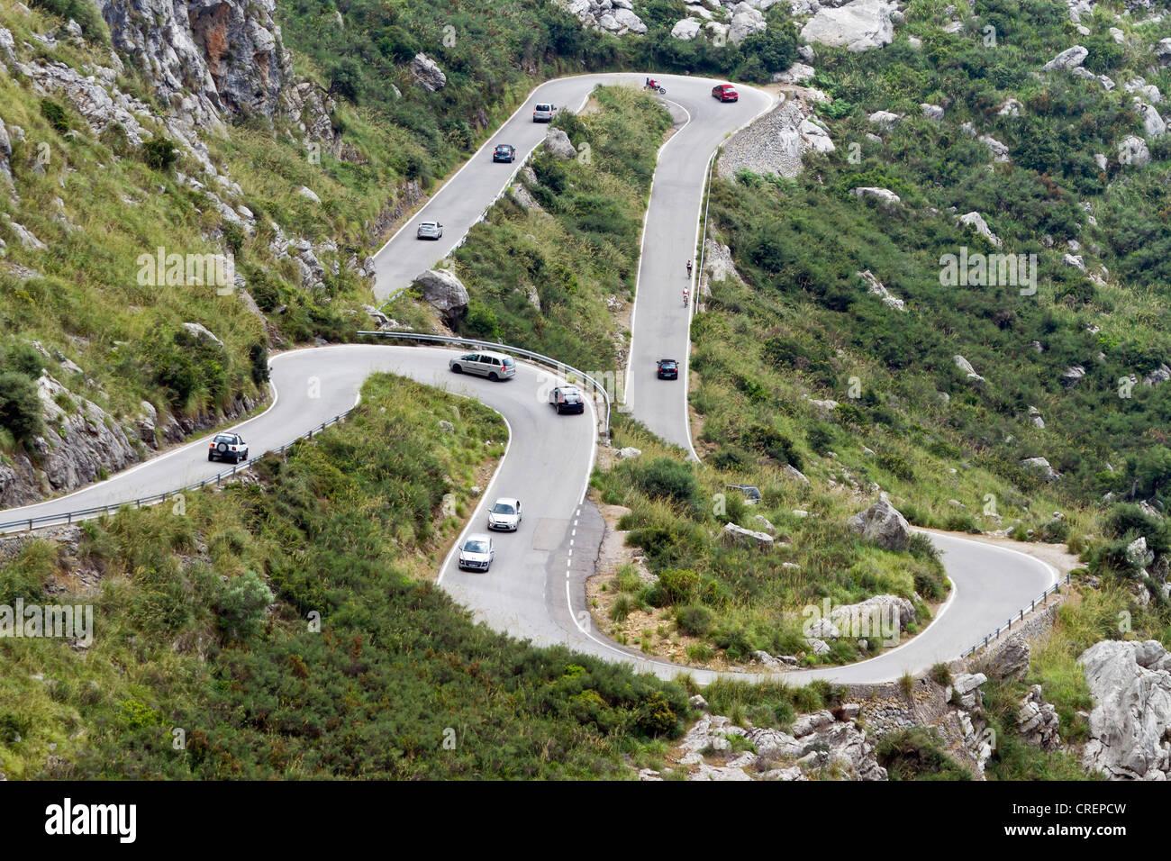 Road to Sa Calobra, Majorca island, Balearic Islands, Spain, Europe - Stock Image