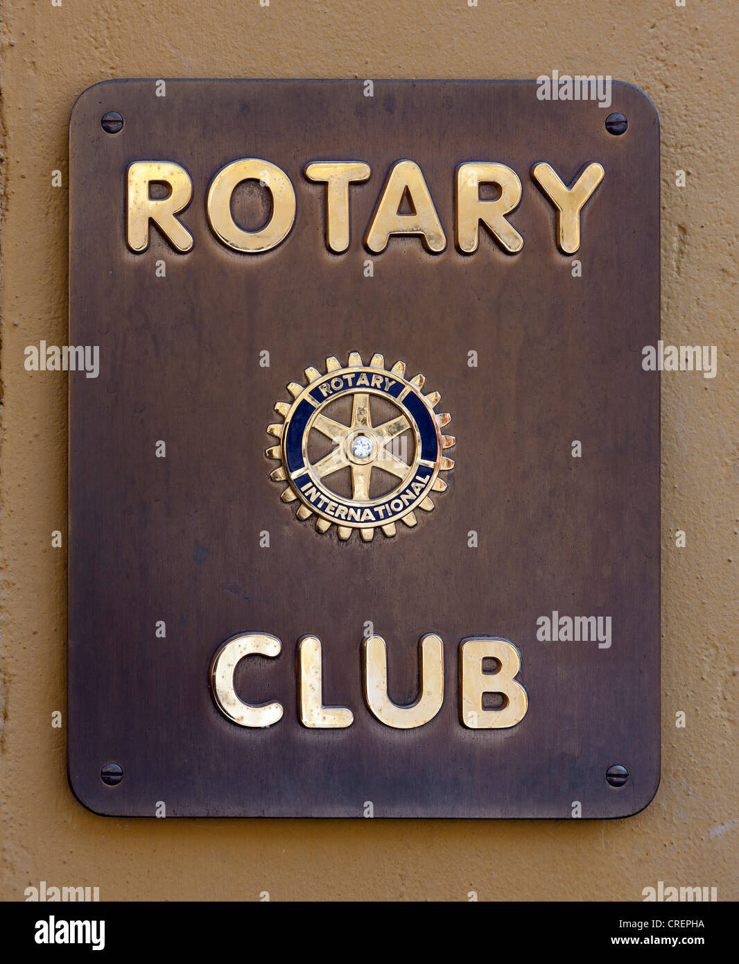 Rotary Club, sign - Stock Image