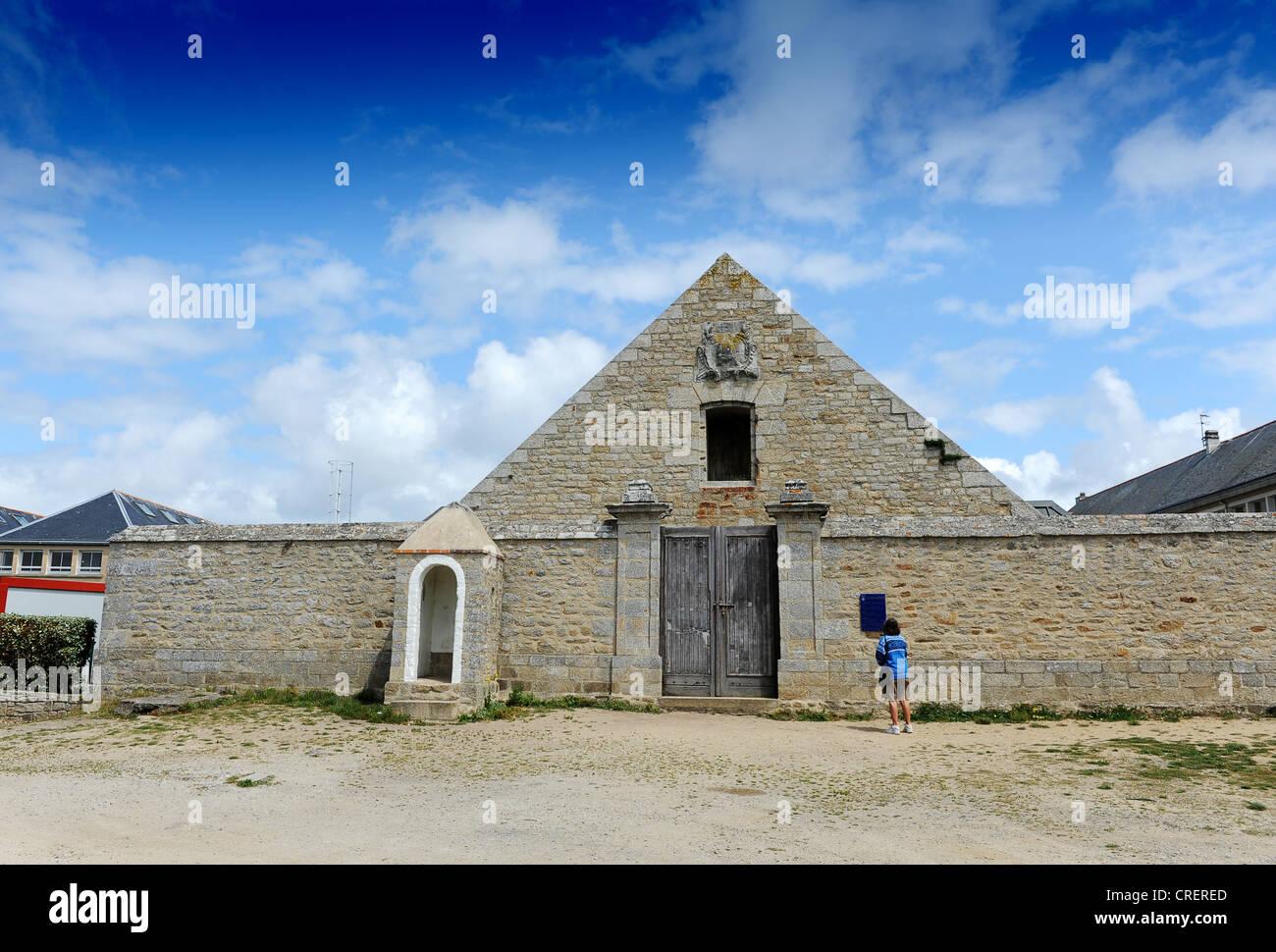 Grande poudrière at Port Louis Morbihan Brittany France - Stock Image