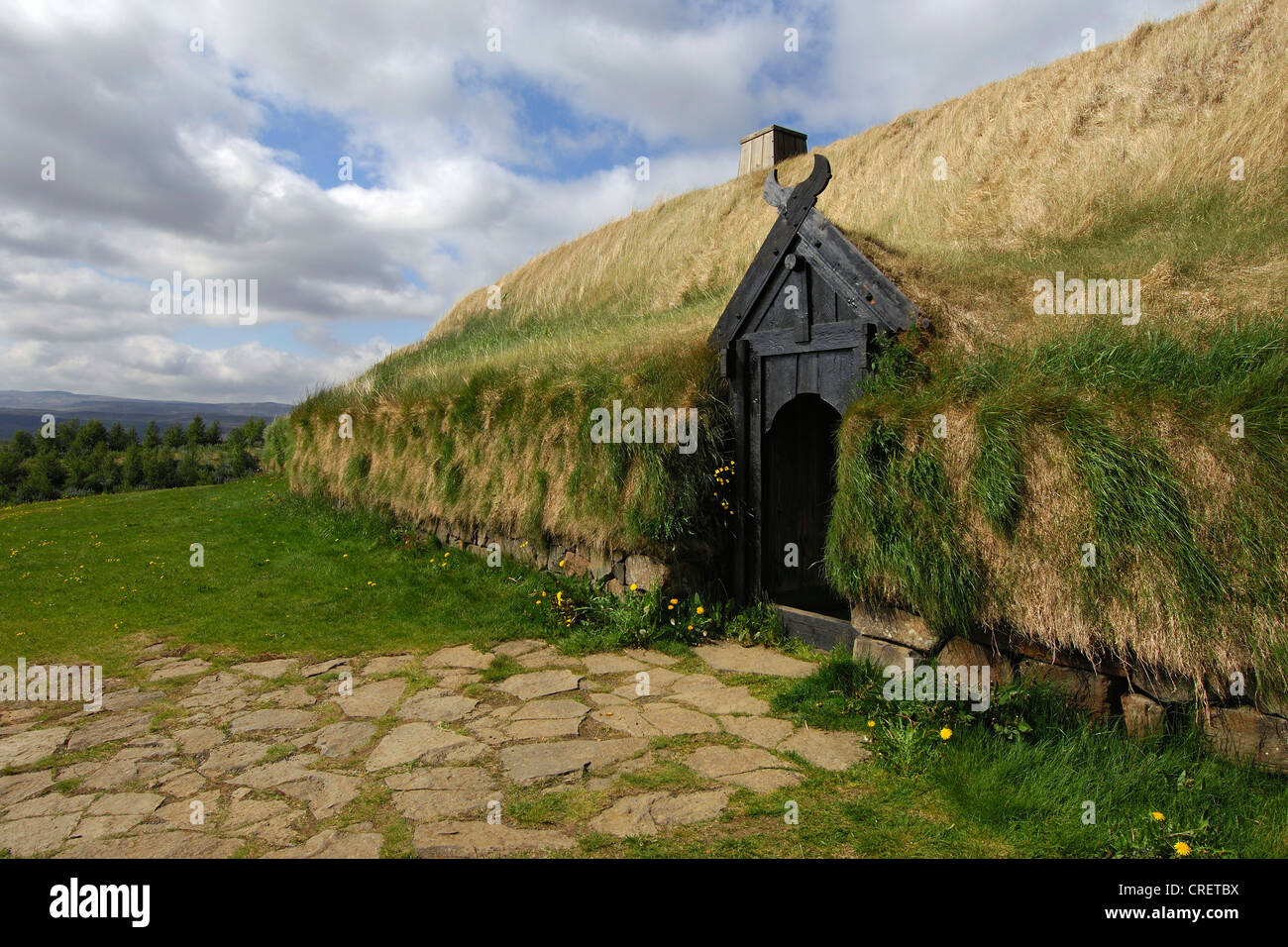 Re Constructed Viking Longhouse At Stong South Central