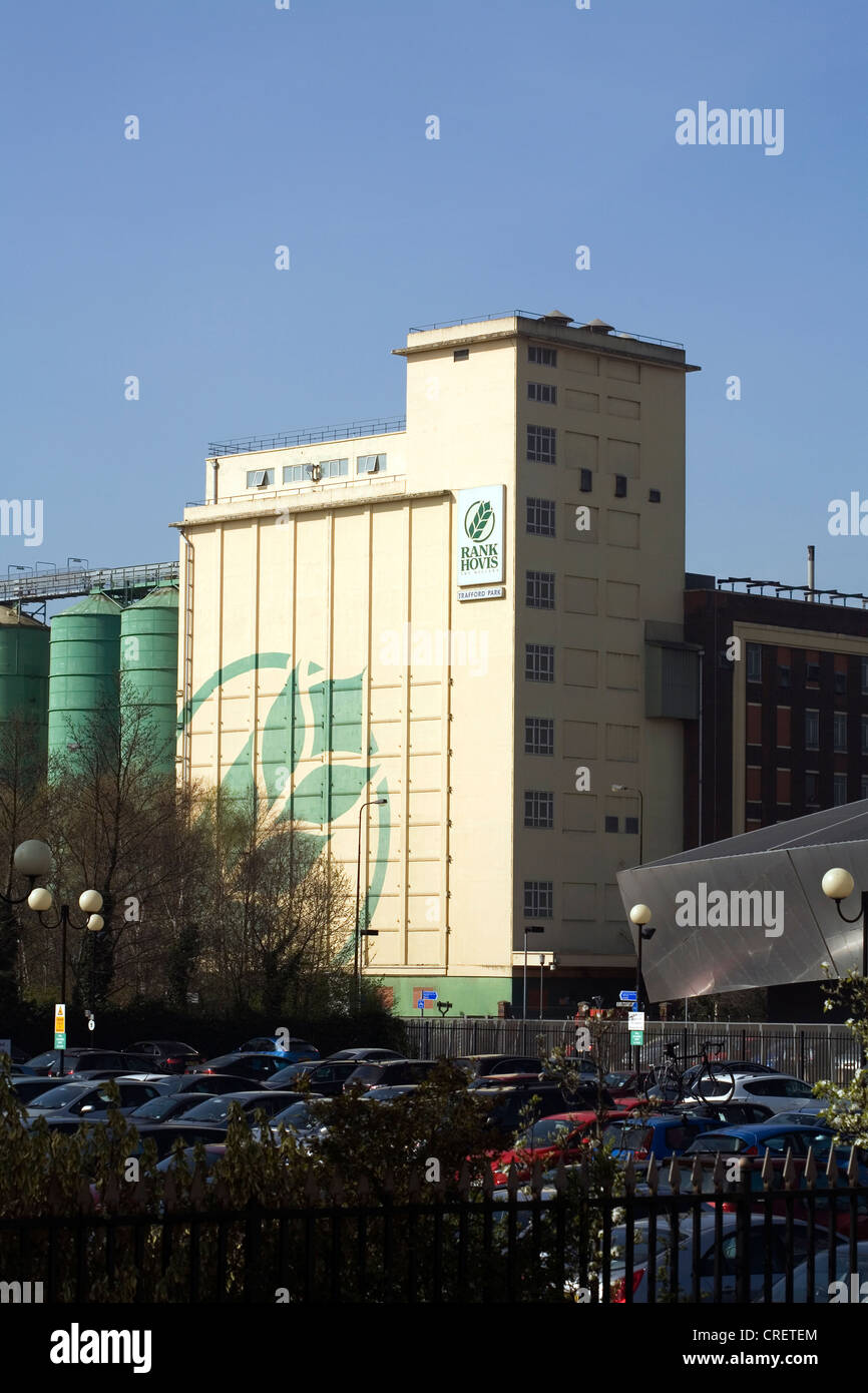 Rank Hovis Flour Mill Trafford Park Industrial Area next to Salford Quays Salford Greater Manchester England - Stock Image