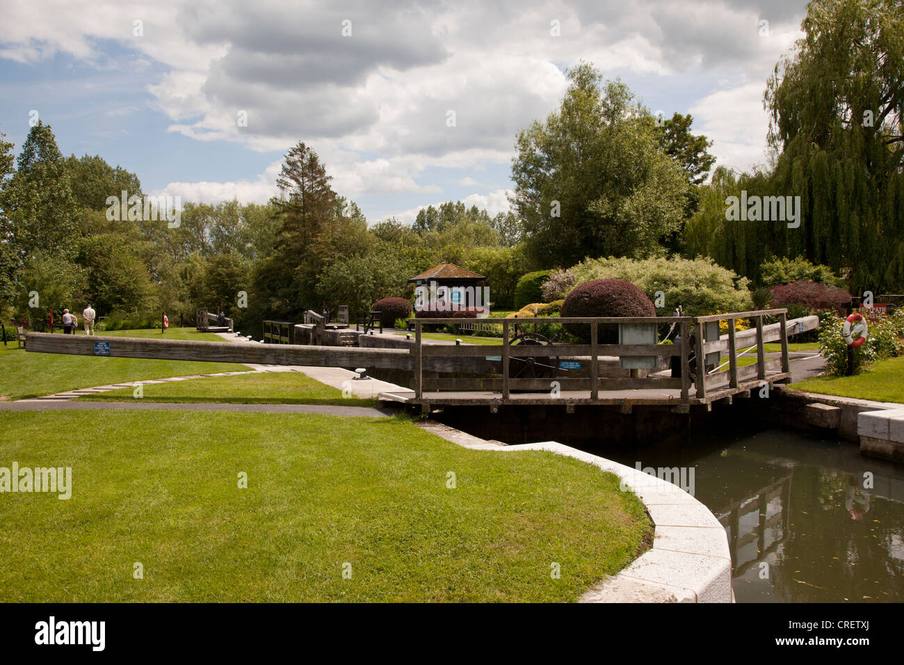 Buscot Lock on the River Thames, Oxfordshire, England. - Stock Image