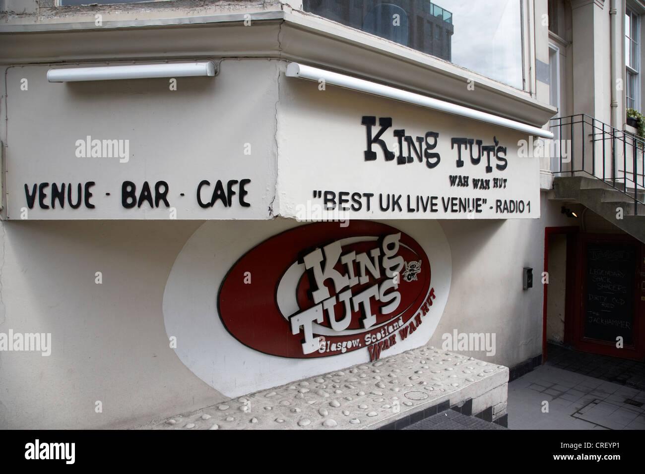 king tut's wah wah hut music venue glasgow scotland uk - Stock Image