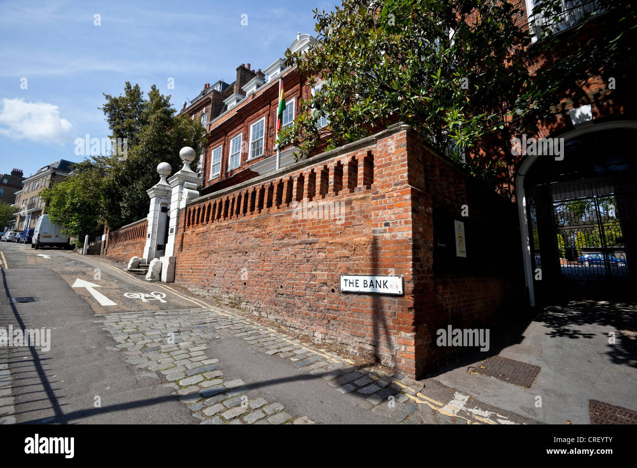 Cromwell House, Ghana High Commission, The Bank, Highgate Hill, N6, London, England, UK Stock Photo