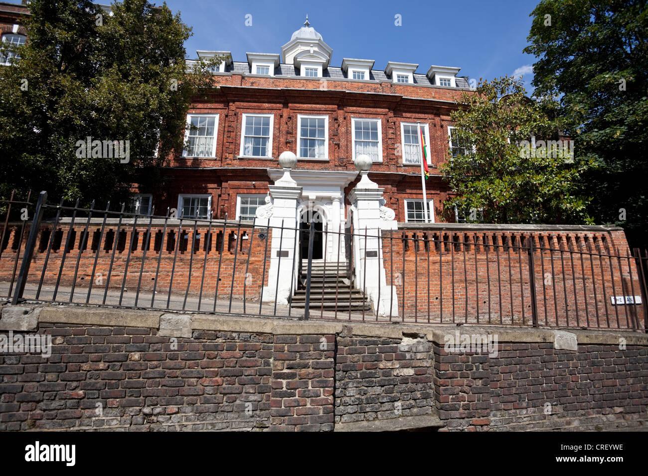 Cromwell House, Ghana High Commission, The Bank, Highgate Hill, N6, London, England, UK - Stock Image