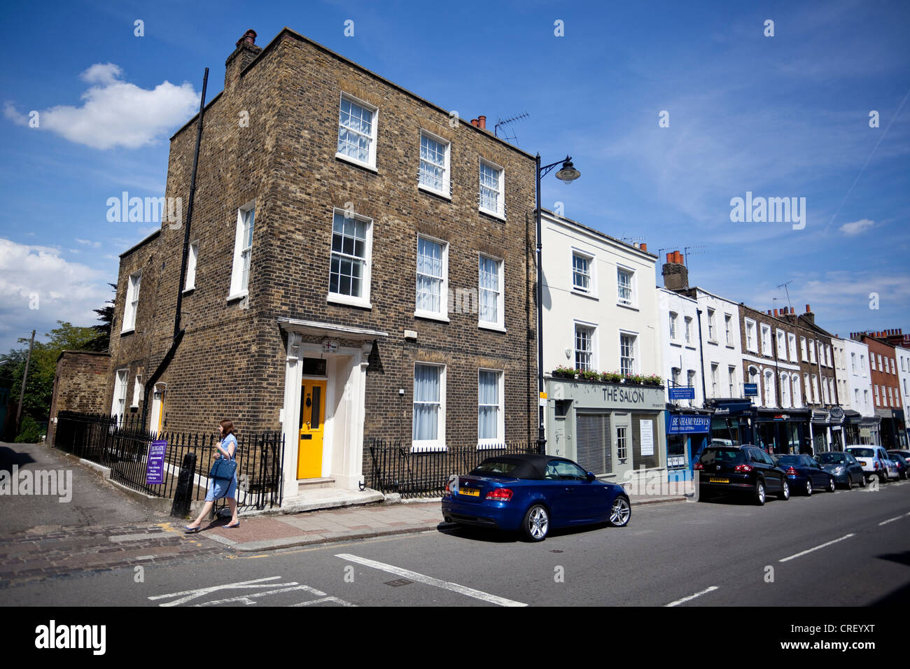 Georgian houses, Highgate High Street, London, N6, England, UK. - Stock Image