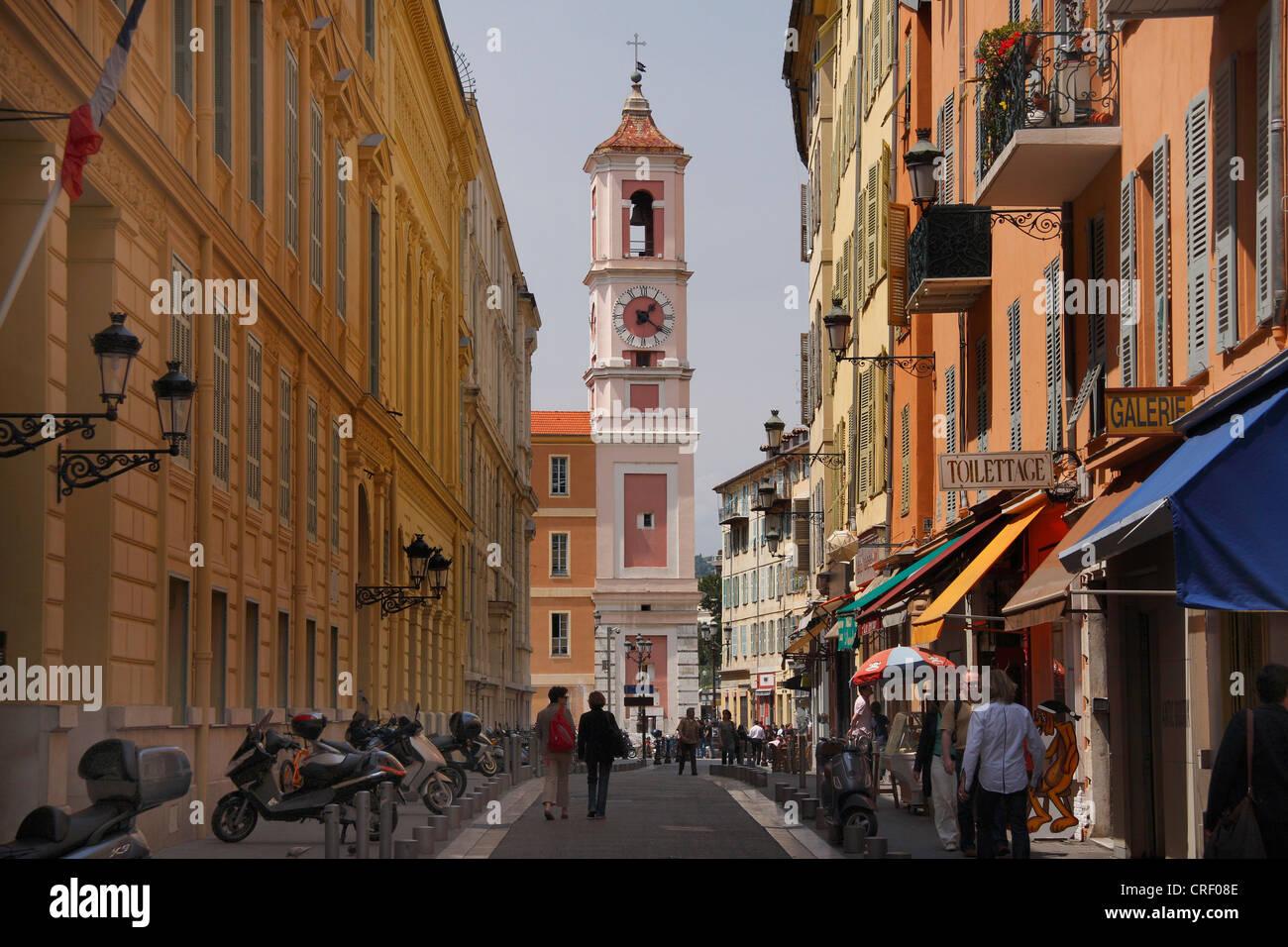 old city of Nizza, France - Stock Image