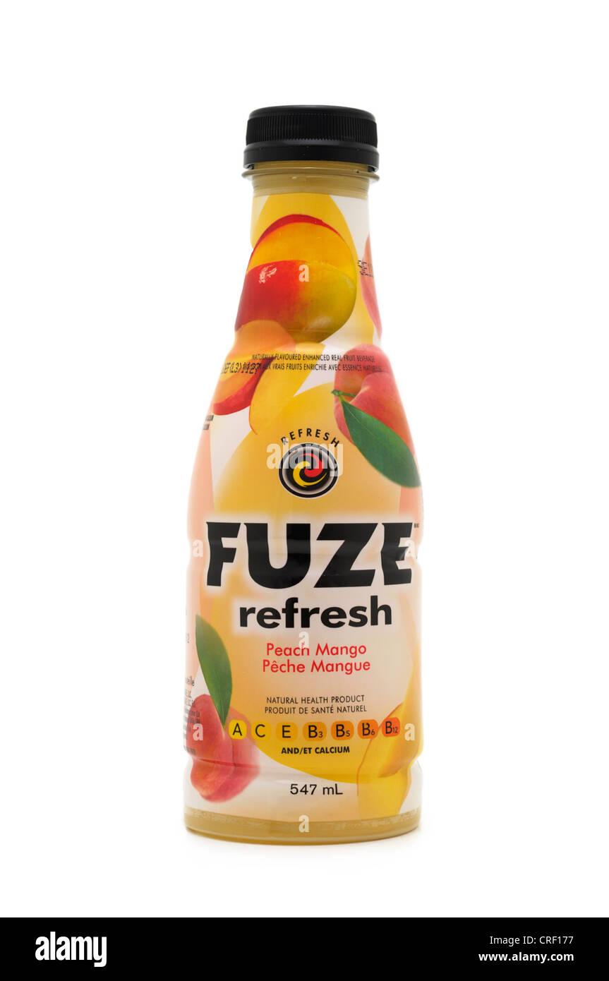Fuze Refresh Juice, Mango, nutritional health product - Stock Image