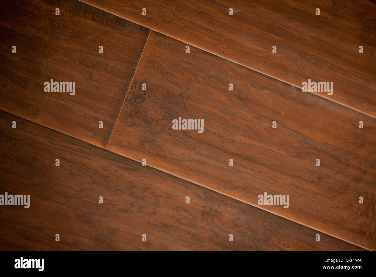 Newly Installed Brown Laminate Flooring Abstract. - Stock Image