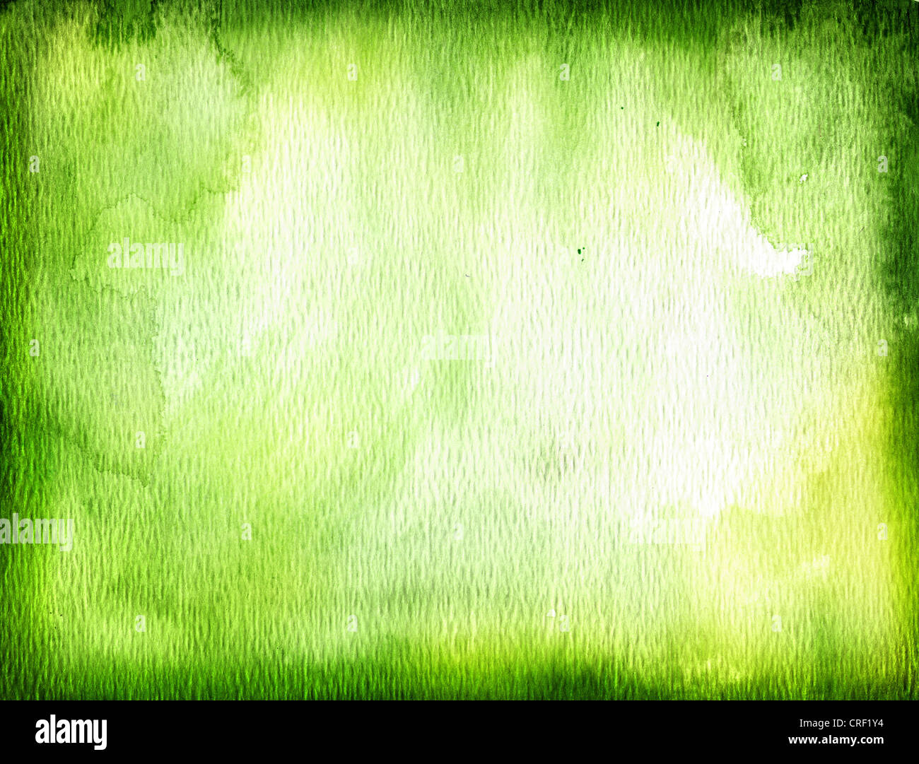 Green watercolor background - Stock Image
