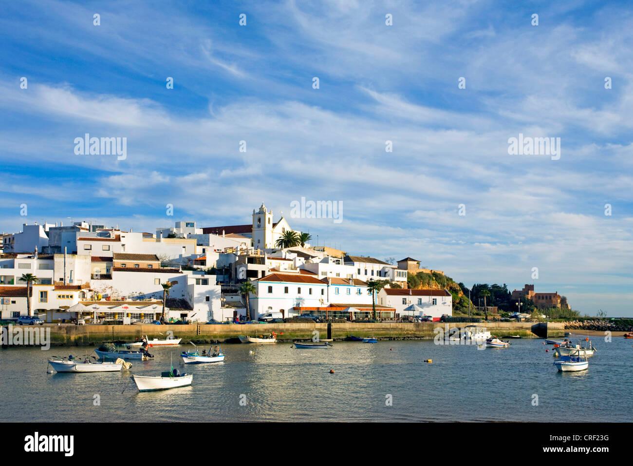 view onto Ferragudo, Portugal, Algarve - Stock Image