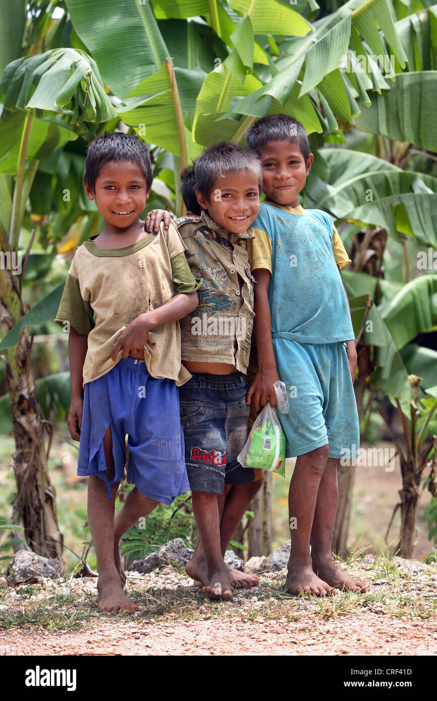 Timorese children on Atauro Island. East Timor. - Stock Image