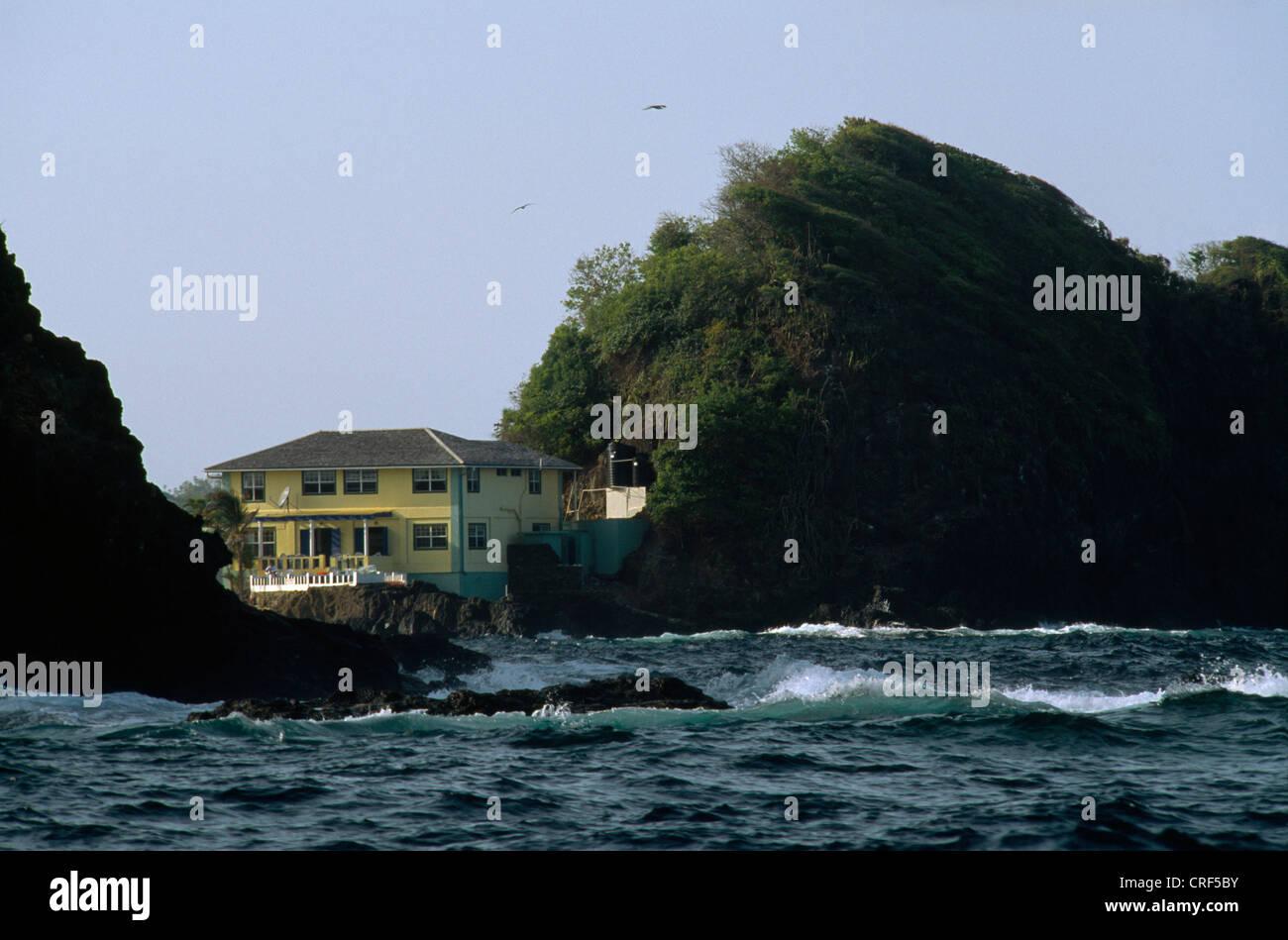 Tobago Ian Fleming's House Nr Little Tobago - Stock Image
