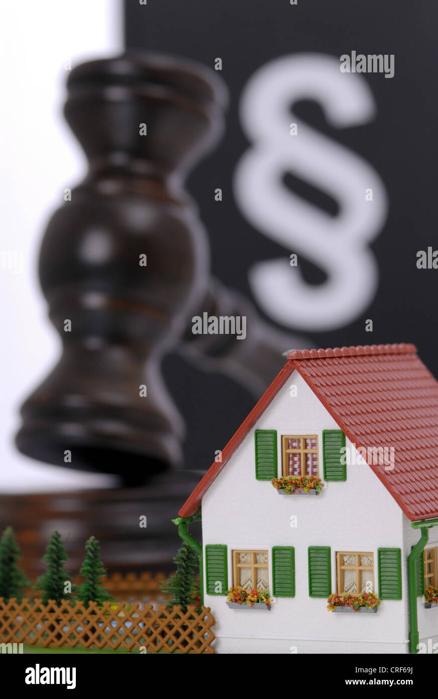 symbolic picture for compulsory auction - Stock Image
