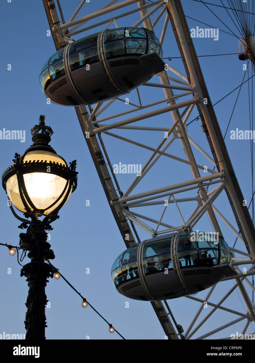 England, Greater London, London Borough of Lambeth. The London Eye (also known as the Millennium Wheel) the tallest - Stock Image