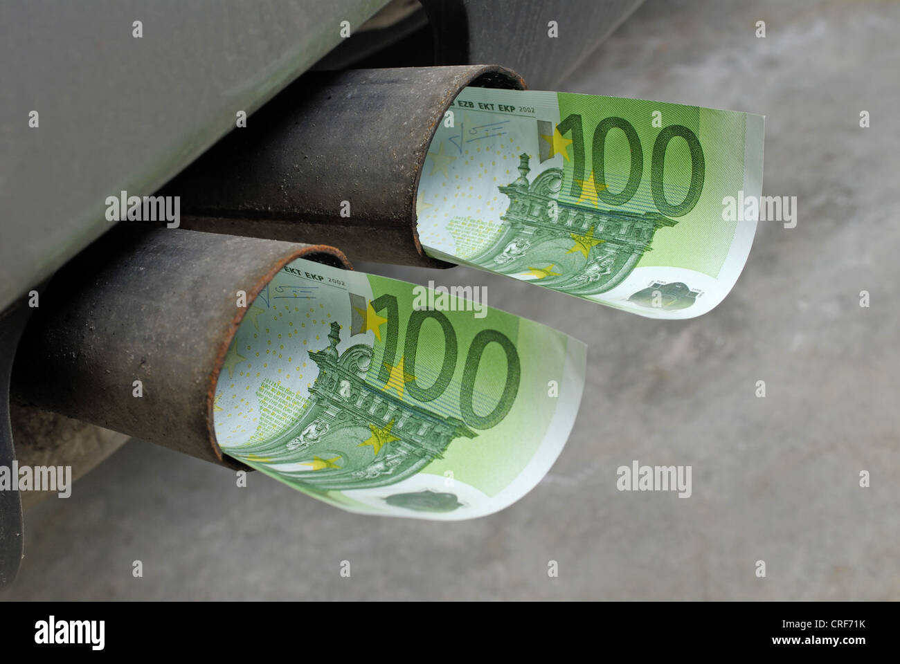 car taxes after CO2-exhaust - Stock Image