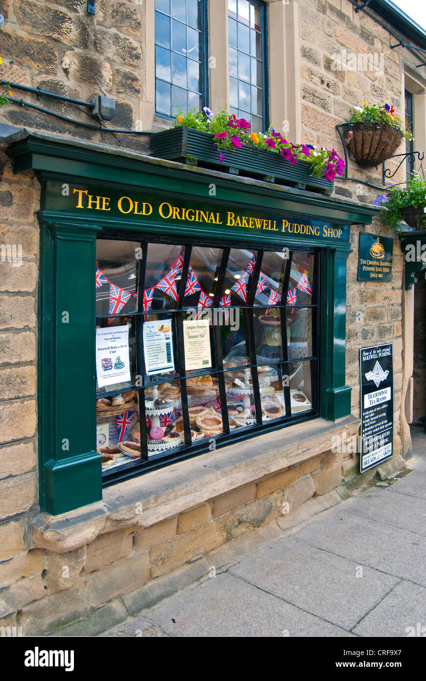 The Old Original Bakewell Pudding Shop - Stock Image