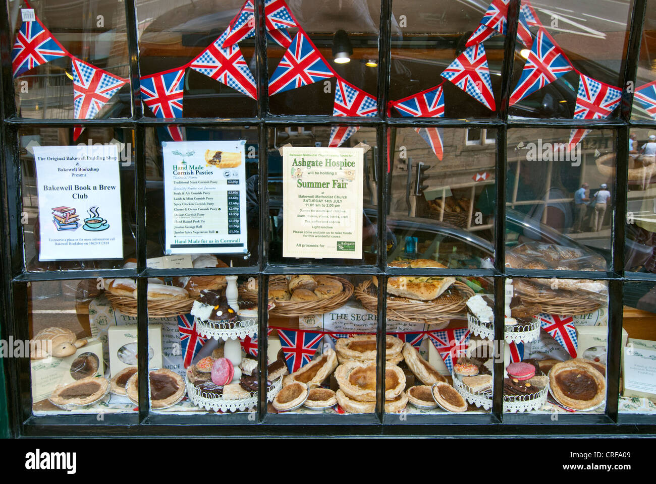 Display of Bakewell Puddings - Stock Image