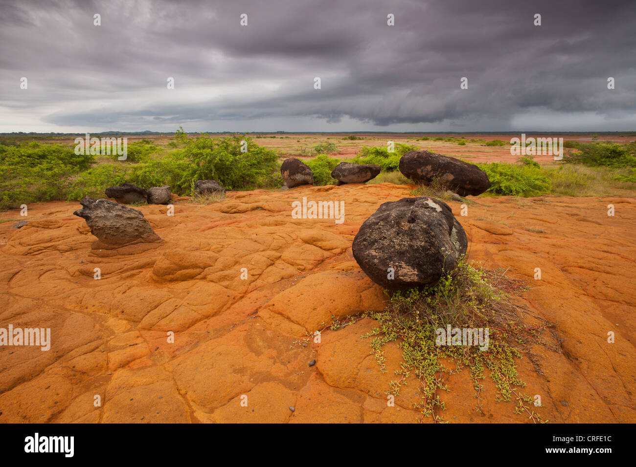 Volcanic rocks and formations in Sarigua national park (Desert), Herrera province, Republic of Panama. - Stock Image