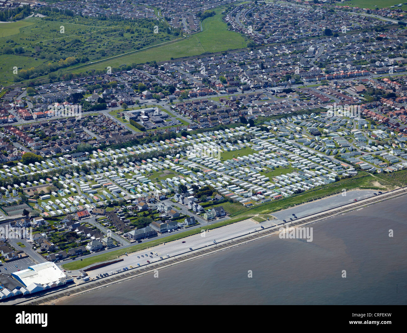 Prestatyn, North Wales, UK, from the air - Stock Image