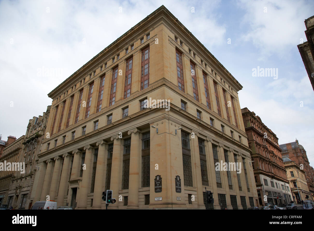 bank of scotland glasgow chief office on the corner of st vincent and renfield street glasgow scotland uk now hbos - Stock Image