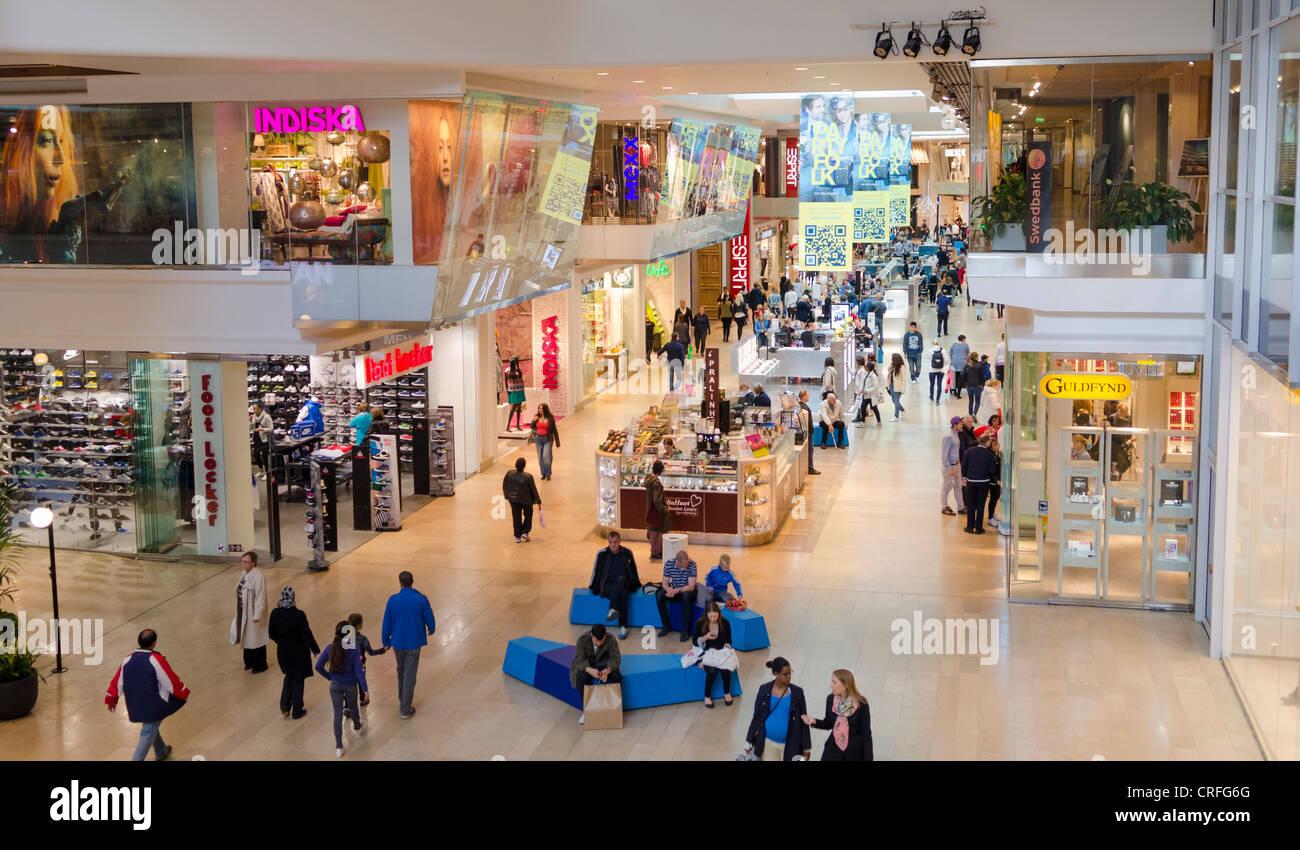 Gallerian Shopping Centre, Stockholm, Sweden - Stock Image