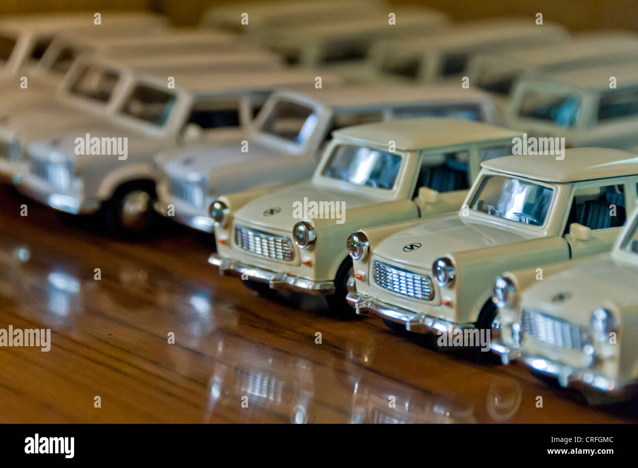 Model Trabant cars, Berlin - Stock Image
