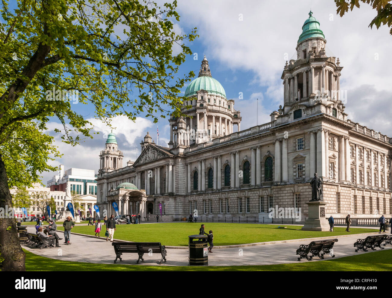 Belfast City Hall, Belfast, Northern Ireland - Stock Image