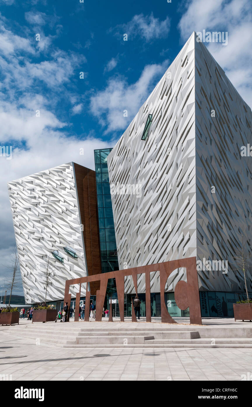 The Titanic Centre in Belfast - Stock Image