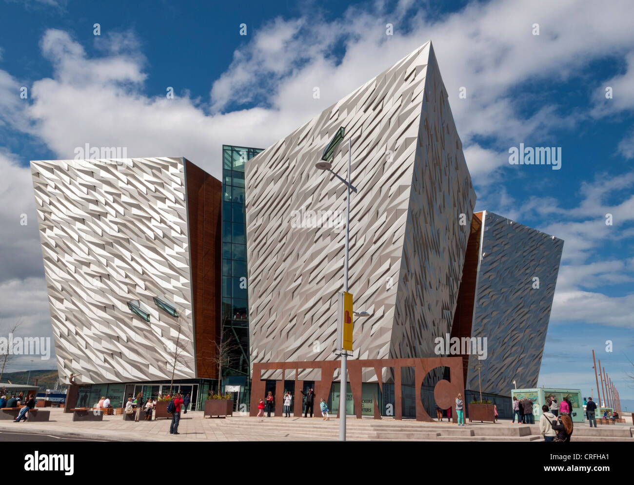 Titanic Centre in Belfast, Northern Ireland - Stock Image