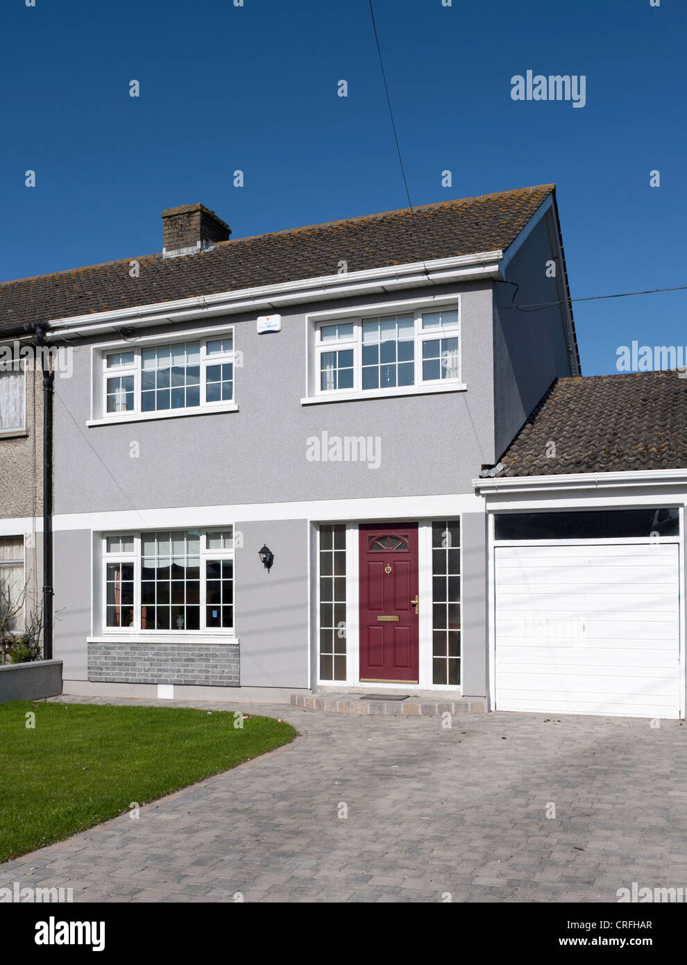 Typical semi-detached house - Stock Image