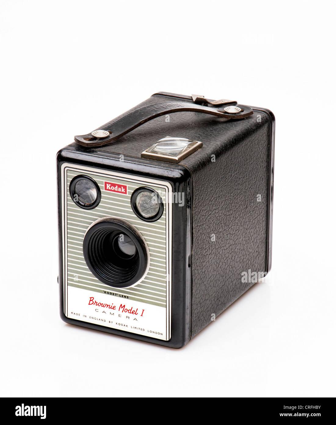 Kodak Box Brownie Model 1 vintage camera - Stock Image