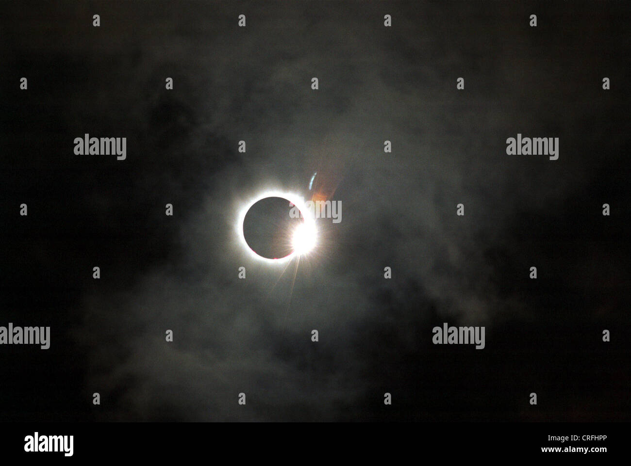 Solar eclipse over Europe 1999 - Stock Image